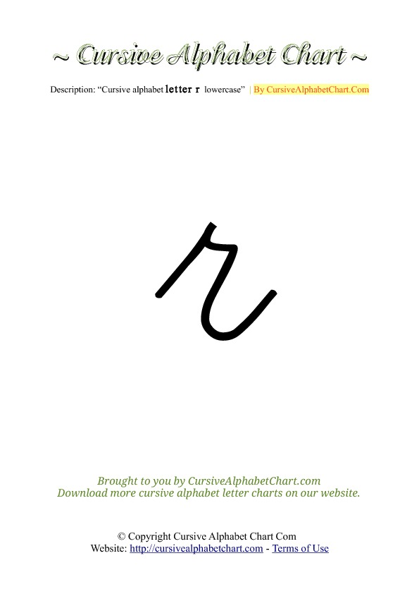 Cursive Alphabet Charts A Z Lowercase on Cursive Lowercase O