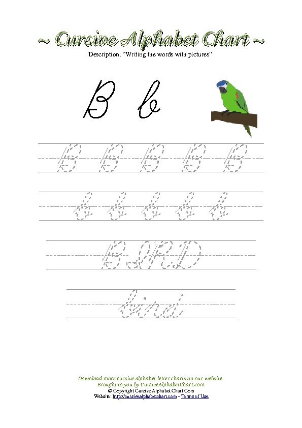 Cursive letters worksheets