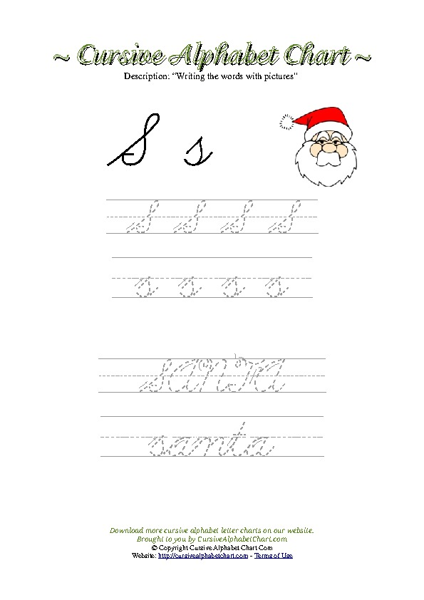photograph regarding Free Printable Cursive Alphabet referred to as Cursive Alphabet Charts For Small children. Free of charge Printable Cursive