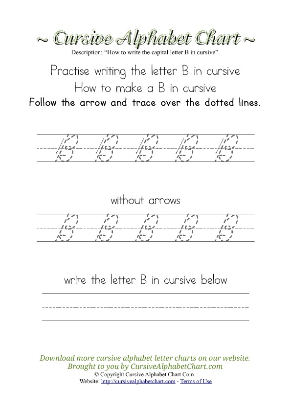 How to Write the Letter B in Cursive