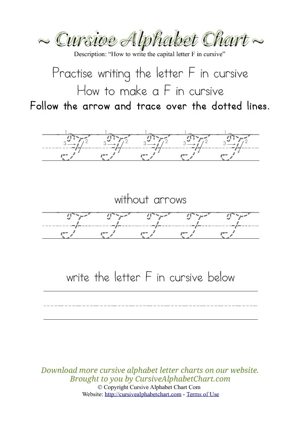 How to Write the Letter F in Cursive