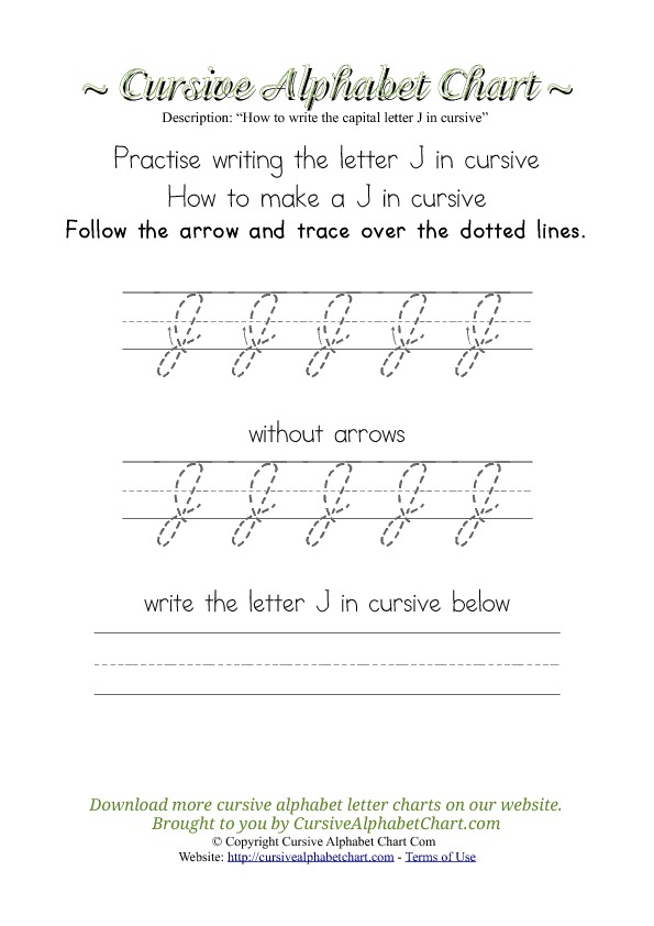 How to Write the Letter J in Cursive