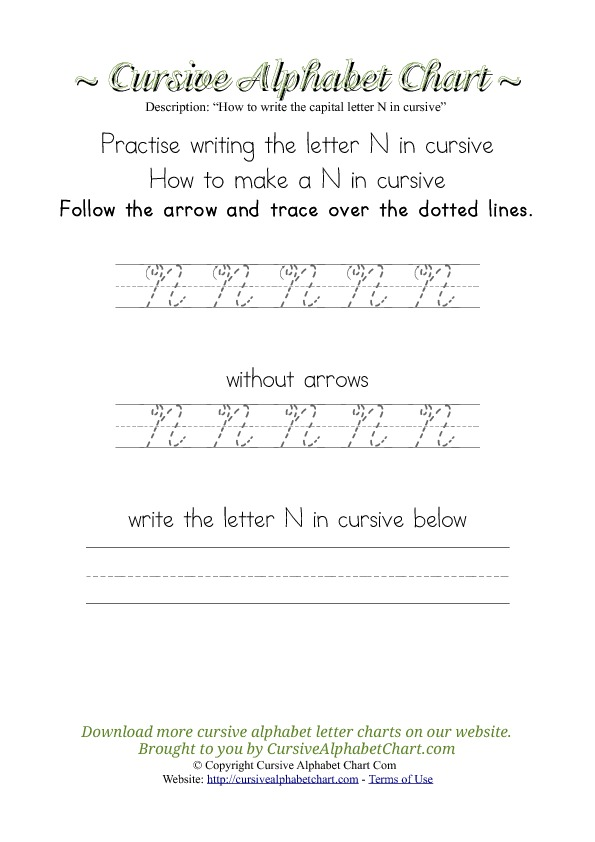 How to Write the Letter N in Cursive