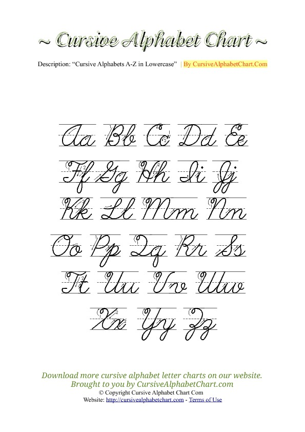Uppercase lowercase cursive alphabet charts with arrows in pdf uppercase lowercase cursive alphabet charts with arrows in pdf expocarfo Gallery
