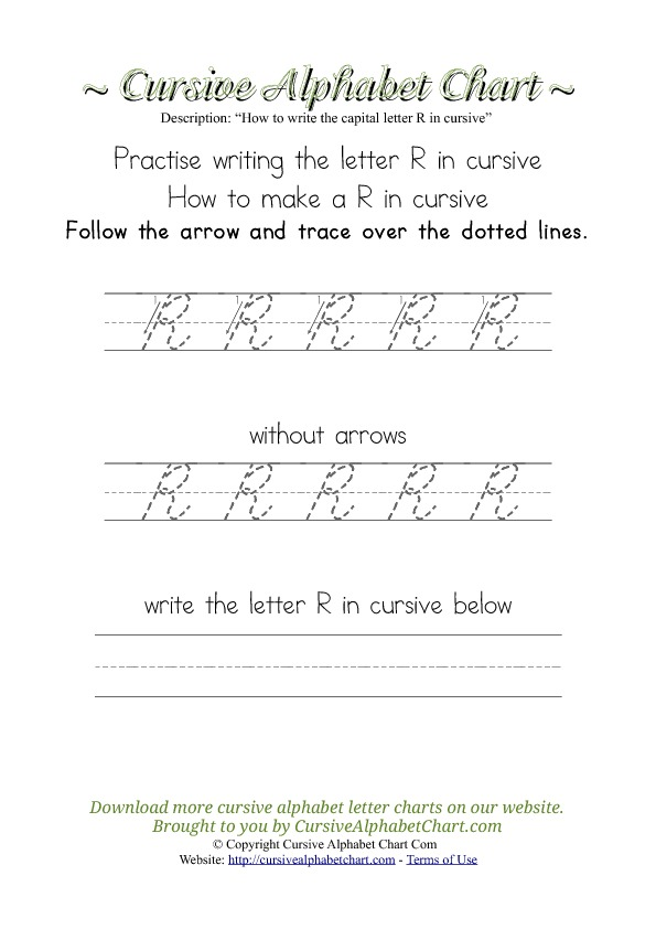 How to Write the Letter R in Cursive